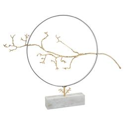 John-Richard Floating Brass Branch Steel Hoop Sculpture