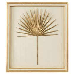 John-Richard Palm Frond Gold Leaf Ivory Shadowbox - II