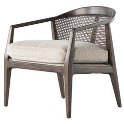 Pace Mid Century Mid Century Birch Rattan Beige Arm Chair