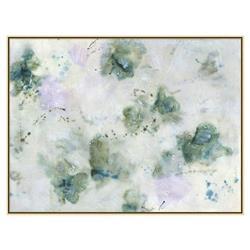 Hazel Lavender Teal Clouds Encaustic Matte Painting - I
