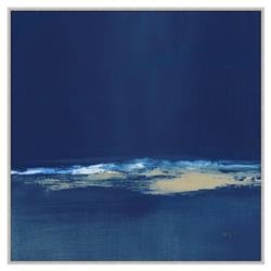 Everly Navy Blue Abstract Giclee Gallery Wrapped Canvas - II