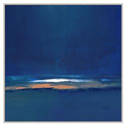 Everly Navy Blue Abstract Giclee Gallery Wrapped Canvas - I