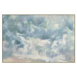 Leah Cloudy Blue Abstract Giclee Gallery Wrapped Painting