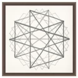 Edison Metraton Soft Grey Geometric Contemporary Art
