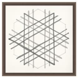 Edison Cross Hatch Soft Grey Geometric Contemporary Art