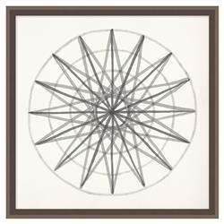 Edison Start Soft Grey Geometric Contemporary Art