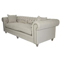 Alaine French Country 'Provence' Chesterfield Nailhead Sofa | Kathy Kuo Home