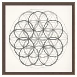 Edison Fractal Sphere Soft Grey Geometric Contemporary Art