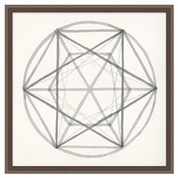 Edison Platonic Solid Soft Grey Geometric Contemporary Art