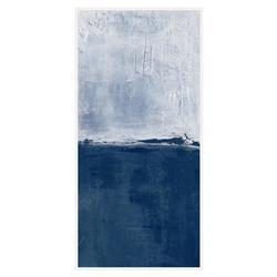Leo Blue White Abstract Tall Canvas - I