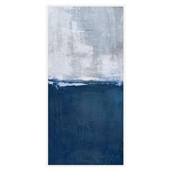 Leo Blue White Abstract Tall Canvas - II