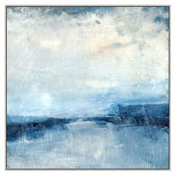 Isabella Blue Abstract Canvas Painting - II