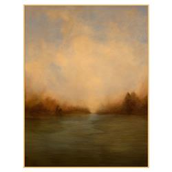 Esther Warm Green Yellow Prarie Abstract Landscape Canvas Painting