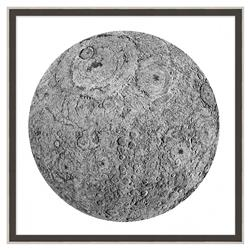 Luna Moon Burlap Trim Wall Art - I