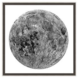 Luna Silver Moon Burlap Trim Wall Art - II