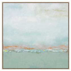 Ayden Blue Sea Green Rust Orange Abstract Canvas Panting