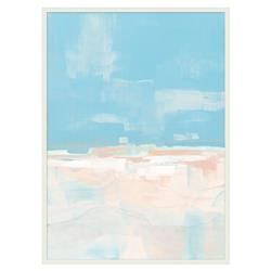 Ava Pastel Blue Pink Watery Abstract Canvas - I