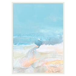 Ava Pastel Blue Pink Watery Abstract Canvas - II