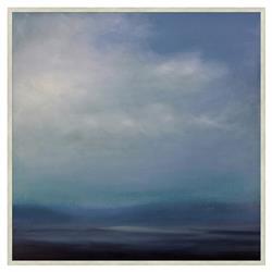 Gabriela Blue Coastal Sky Abstract Blue Canvas Painting - I