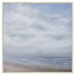 Ariana Cloudy Grey Wave Break Abstract Giclee Canvas Painting