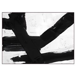 Harper Abstract Black and White Canvas Painting