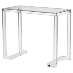 Interlude Ava Regency Modern Acrylic Console Desk - 36W
