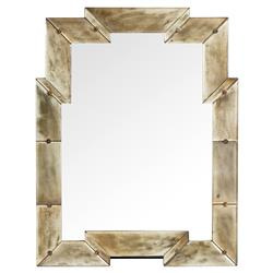 Nasir Global Bazaar Reactive Gold Wood Mirror