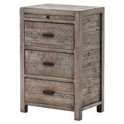 Wolter Rustic Grey Olive Reclaimed Wood Nightstand