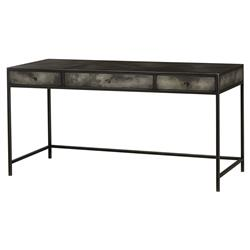 Maison 55 Joshua Industrial Iron Grey Gunmetal Vellum Desk