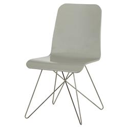 Taye Modern Grey Lacquer Star Side Chair
