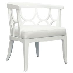 Allton Modern White Lacquer Barrel Back Barrel Chair