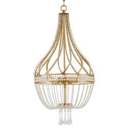 Alulah Regency Crystal Gold Leaf Empire Chandelier