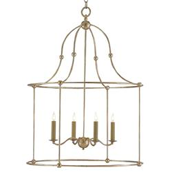 Orenda Modern Silver Leaf Simple Iron Lantern