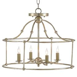 Orenda Modern Silver Leaf Simple Iron Semi Flush Pendant