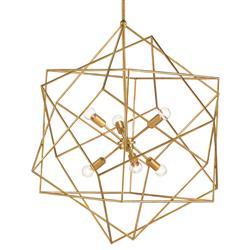 Dade Geometric Modern Gold Cubes Chandelier