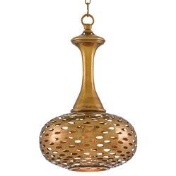 Salman Global Bazaar Pierced Antique Brass Pendant