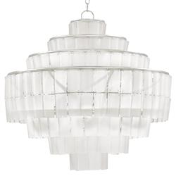 Rodger Tiered Frosted Glass Chandelier