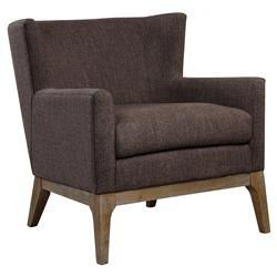 Maritana Rustic Lodge Brown Woven Cotton Armchair