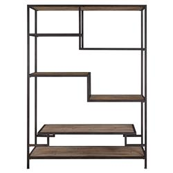 Quincy Loft Reclaimed Pine Black Iron Etagere