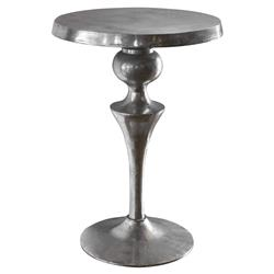 Freda Global Bazaar Textured Silver Metal End Table