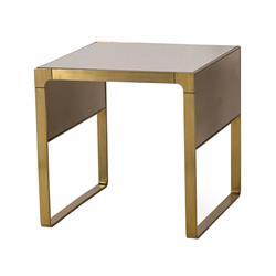 Maison 55 Evans Hollywood Regency Bronze Glass Top Side End Table