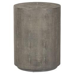 Maison 55 Braden Drum Regency Round Charcoal Shagreen End Table