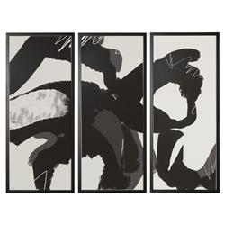 Momentum Modern Ink Block Giclee Triptych