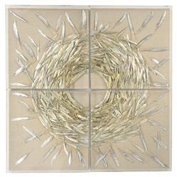 Metallic Feather Linen Velvet Abstract Wall Art