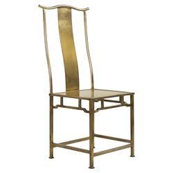 Tariq Regency Gilded Gold Metal Side Chair