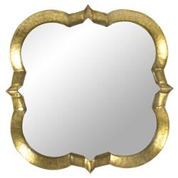 Gilt Gold Hollywood Regency Quatrefoil Wall Mirror