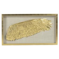 Blyth Regency Gold Wing Linen Shadow Box - Right