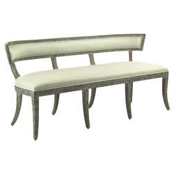 Ivette Rustic French Curved Sea Green Bench