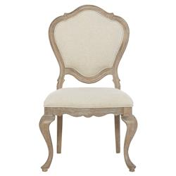 Felicity Rustic French Beige Cabriole Side Chair