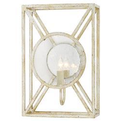 Corey Modern Silver Leaf Mirror Reflector Sconce